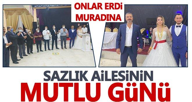 Ersin Sazlık'ın kardeşi evlendi