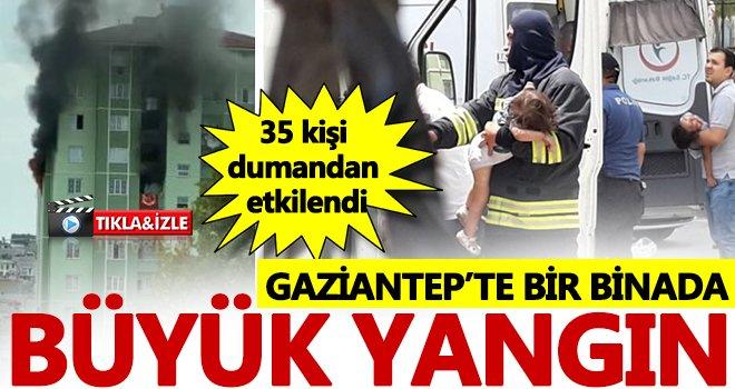 Faciadan dönüldü! Gaziantep'te çok katlı binada korkutan yangın