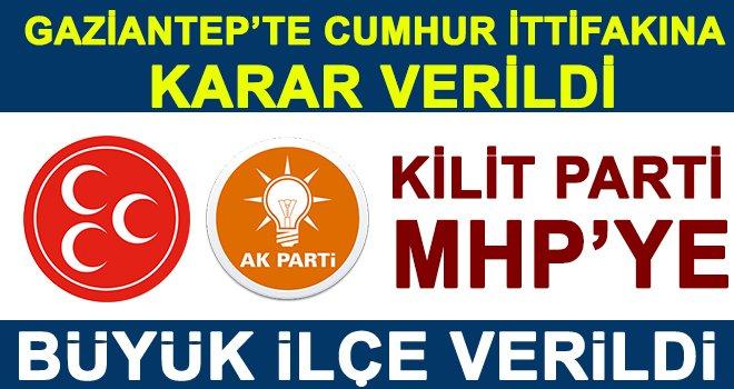 Flaş... Flaş...Flaş... Gaziantep'te MHP'nin seçim ittifakında yüzü güldü: Büyük ilçeyi aldı