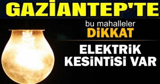 Flaş... Flaş...Flaş...Gaziantep'te Son Dakika elektrik kesintisi