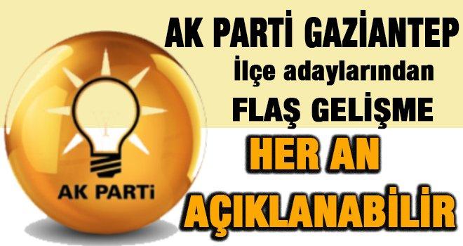 Gaziantep AK Parti de mülakat tamam her an...