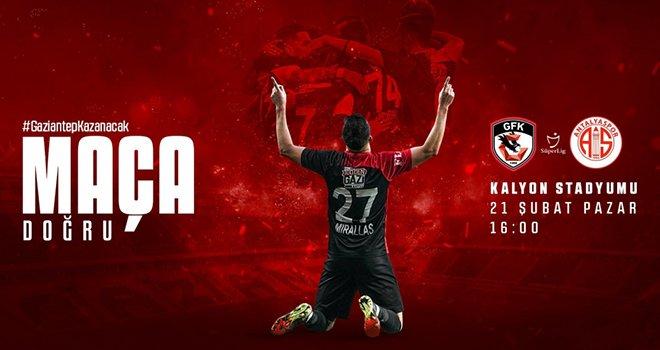 Gaziantep FK, Antalyaspor'u konuk edecek...