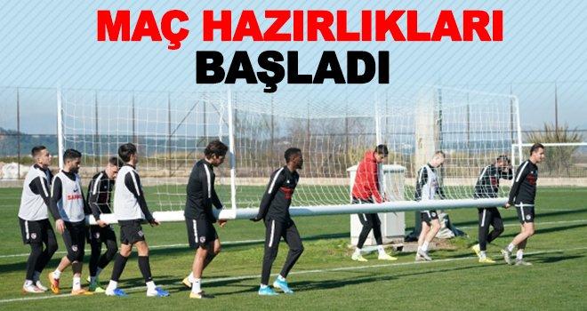 Gaziantep FK, Fenerbahçe maçı hazırlıklarına başladı