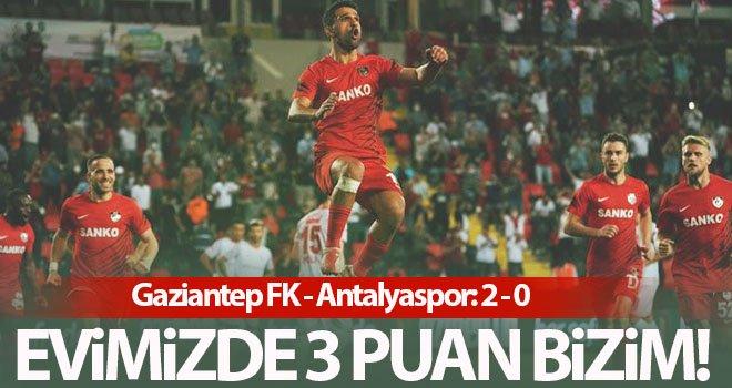Gaziantep FK ilk galibiyetini aldı! Gaziantep FK - Antalyaspor: 2 - 0