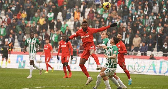Gaziantep FK Konyaspor 0-0: 1 puan iyi puan