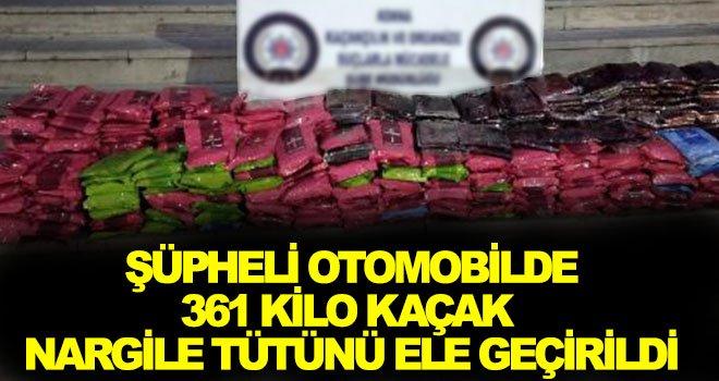 Gaziantep karayolunda kaçak nargile tütünü ele geçirildi