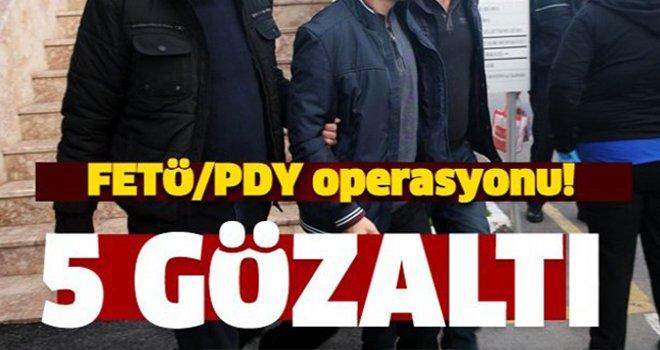 Gaziantep merkezli 3 ilde FETÖ operasyonu