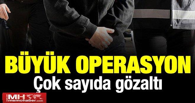 Gaziantep merkezli FETÖ operasyonu: Çok sayıda gözaltı