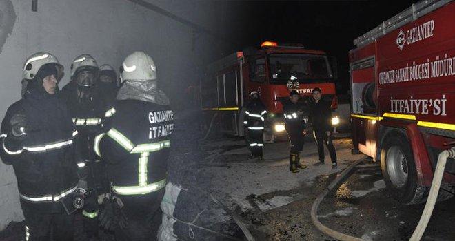 Gaziantep OSB'de tekstil fabrikasında yangın çıktı