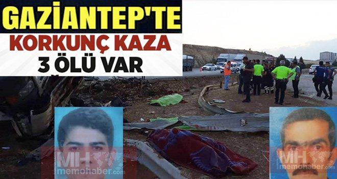 Gaziantep'te limon yüklü TIR devrildi: 3 ölü