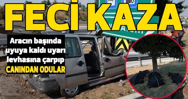 Gaziantep otoyolu'nda akılalmaz kaza: 3 ölü, 6 yaralı