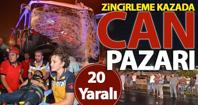 Gaziantep otoyolunda feci kaza: 20 yaralı