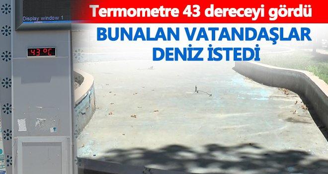 Gaziantep, Temmuz ayının ilk gününde sıcaktan kavruluyor