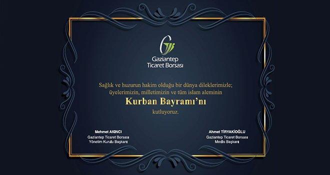 Gaziantep Ticaret Borsası'ndan Kurban bayramı mesajı