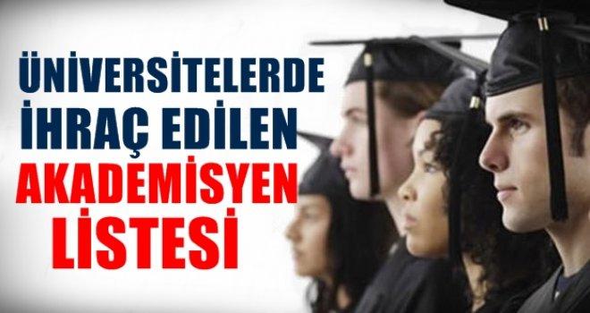 Gaziantep Üniversitesi'nden 14 ihraç! İşte o isimler