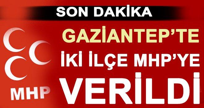 Gaziantep'in iki ilçesinde MHP adayları desteklenecek