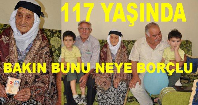 Gaziantep'li 117 yaşındaki Ayşe ninenin yaşam sırrına inanamayacaksınız
