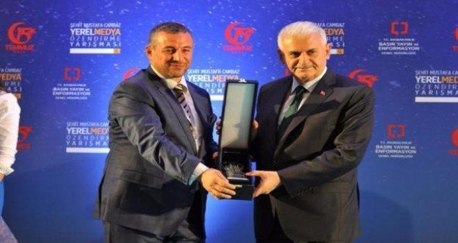 Gaziantepli gazeteciye birincilik ödülü