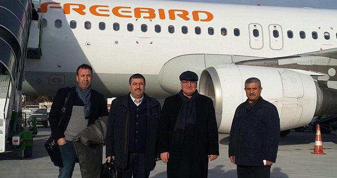 Gaziantepli halıcılar özel uçakla Hannover'e gitti