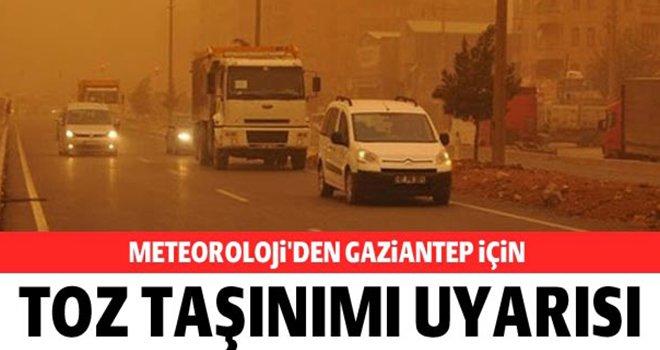 Gaziantepliler dikkat! Meteoroloji'den toz taşınımı uyarısı