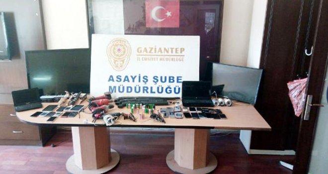 Gaziantep'te 6 hırsızlık şüphelisinden 2'si tutuklandı