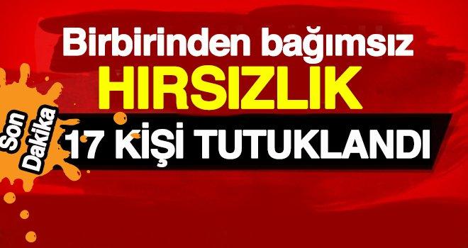 Gaziantep'te 102 olayla ilgili 17 tutuklama