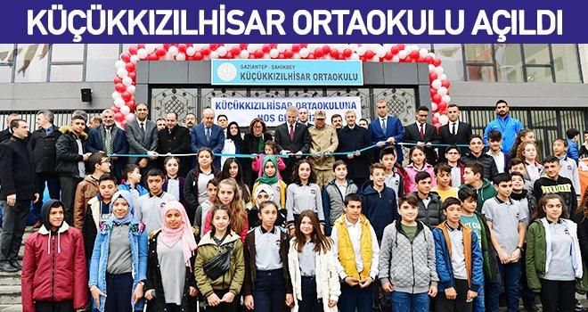 Gaziantep'te 16 derslikli Küçükkızılhisar Ortaokulu açıldı