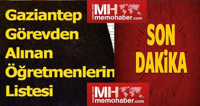 Gaziantep'te 23 öğretmen ihraç edildi! İşte o isimler