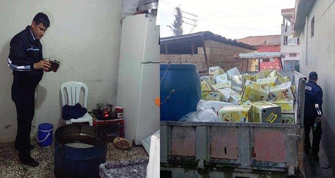 Gaziantep'te 250 kilo sahte bal ve zeytin yağı ele geçti