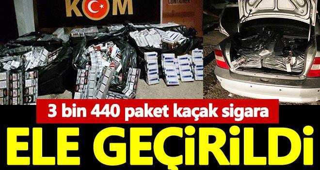 Gaziantep'te 3 bin 440 paket kaçak sigara ele geçirildi