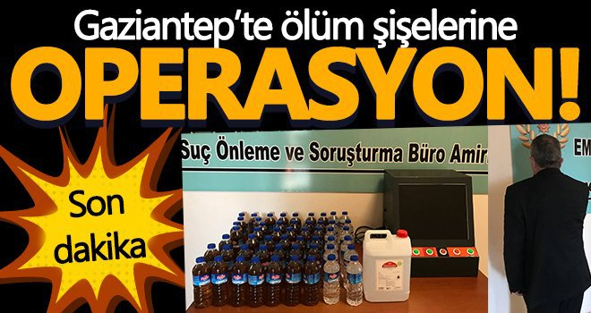 Gaziantep'te 31 litre kaçak alkol ele geçirildi...