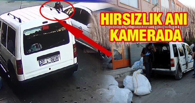 Gaziantep'te 43 bin Euro'nun çalınma anı kamerada