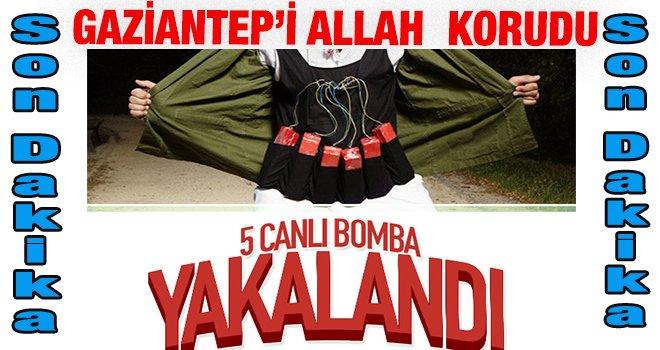 Gaziantep'te 5 canlı bomba yakalandı...