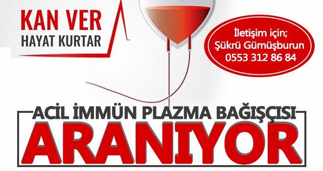 Gaziantep'te acil kan ihtiyacı duyurusu!