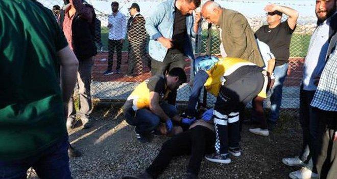 Gaziantep'te Amatör maçta gerginlik: 1'i polis 2 yaralı