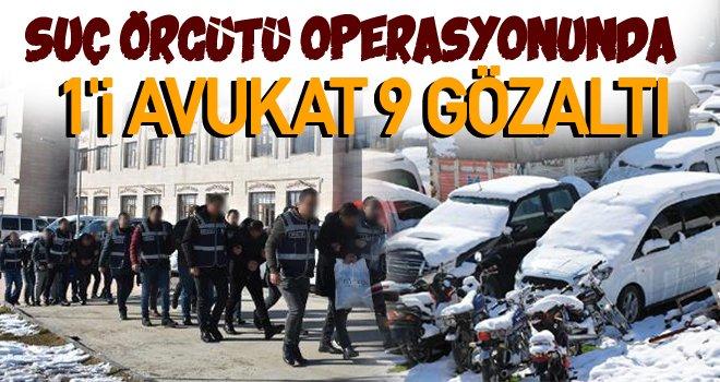 Gaziantep'te araç hırsızlığı operasyonu: 9 gözaltı