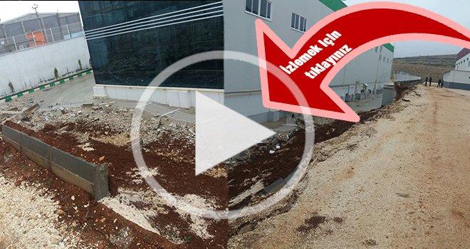 Gaziantep'te aşırı yağışa dayanamayan istinat duvarı çöktü