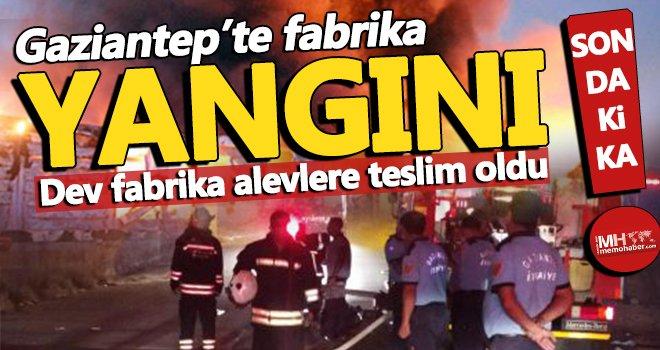 Gaziantep'te ayakkabı fabrikasında yangın çıktı