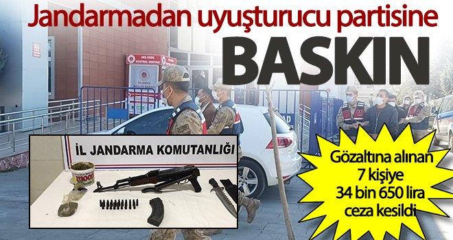 Gaziantep'te bağ evine uyuşturucu baskını