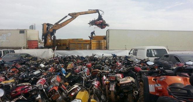 Gaziantep'te bin 144 motosiklet hurdaya ayrıldı