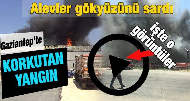 Gaziantep'te bir iş yerinde korkutan yangın!..