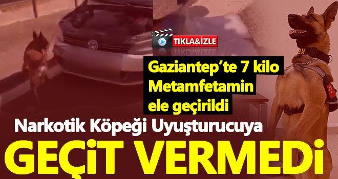 Gaziantep'te, bir otomobilde 7 kilo Metamfetamin ele geçirildi