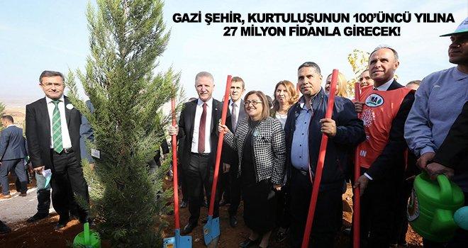 Gaziantep'te 'Bugün Fidan Yarın Nefes' kampanyası