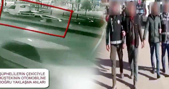 Gaziantep'te çekiciyle otomobil çalan şüpheliler yakalandı