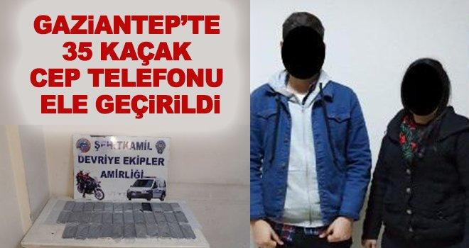 Gaziantep'te çeşitli markalara ait cep telefonu ele geçirildi!