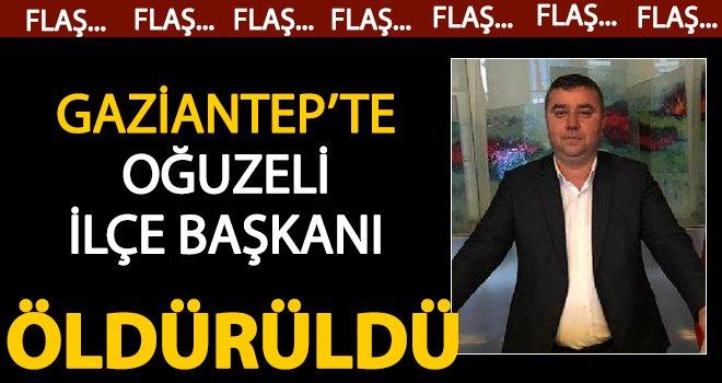 Gaziantep'te CHP ilçe başkanına silahlı saldırı: Öldürüldü