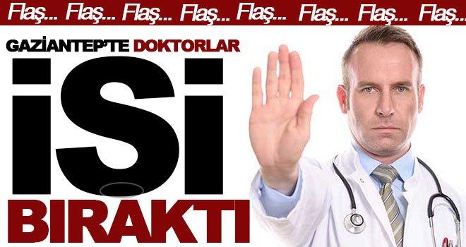 Gaziantep'te doktorlar, sağlıktaki saldırılarıyı protesto ediyorlar