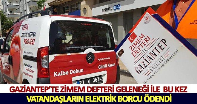 Gaziantep'te elektrik faturalarını ZİMEM ödedi