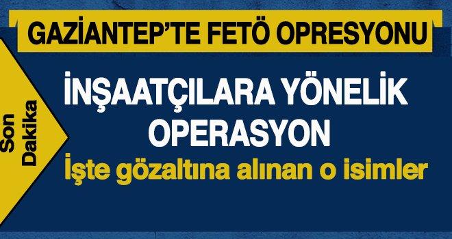 Gaziantep'te eş zamanlı FETÖ Operasyonu: 8 Gözaltı
