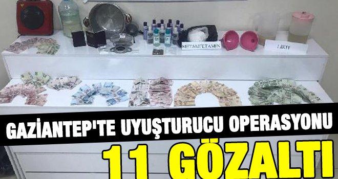 Gaziantep'te eş zamanlı operasyon: 11 gözaltı